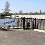 Lower level entry gate at Prestige Recreational Storage.